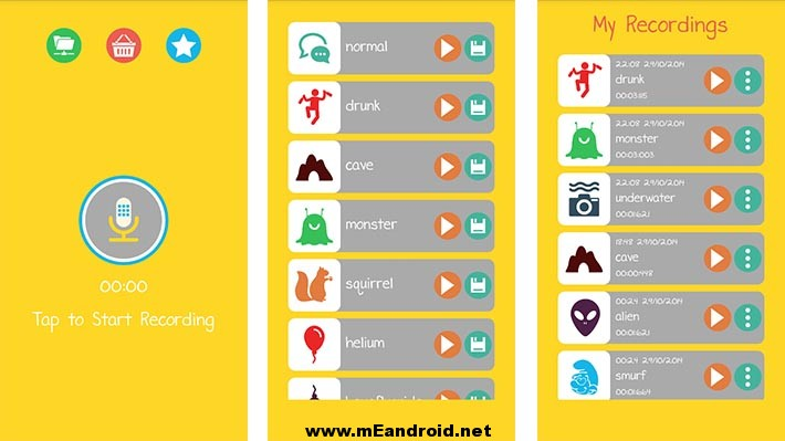 Voice Changer e3games screenshot افضل اربعه تطبيقات لتغيير الاصوات للاندرويد