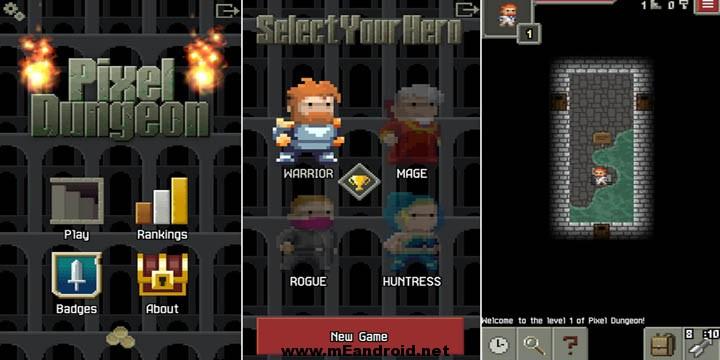 pixel dungeon افضل 10 العاب اندرويد ذات حجم اقل من 10 ميجا
