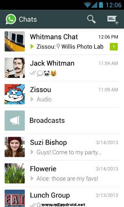 whatsapp messenger 1 تحميل الواتس اب الاصدار الاخير WhatsApp Messenger 2.12.202
