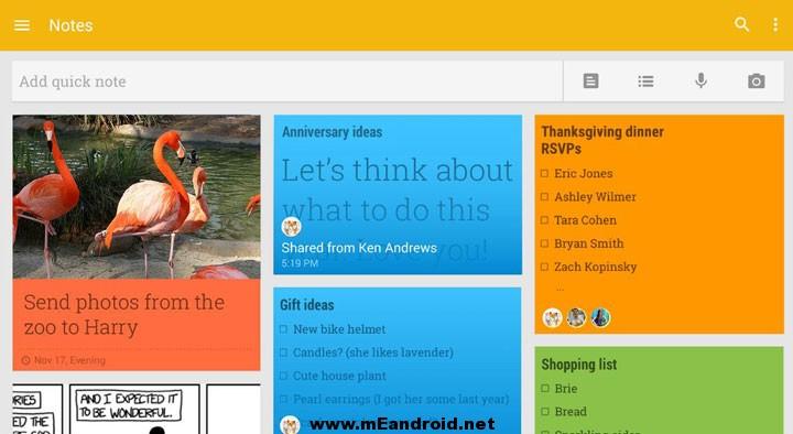 GoogleKeep خمس تطبيقات اندرويد تساعدك علي تذكر كل شئ