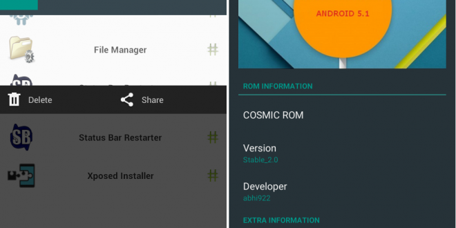 Cosmic ROM Android 5.0 Lollipop on Galaxy Core I8262