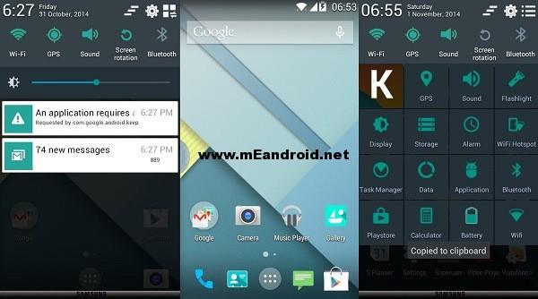 روم اندرويد 5 لولي بوب لهاتف Samsung Galaxy Core i8262