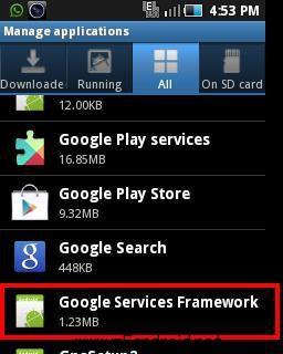 Google Play Store Error 495-google services framework