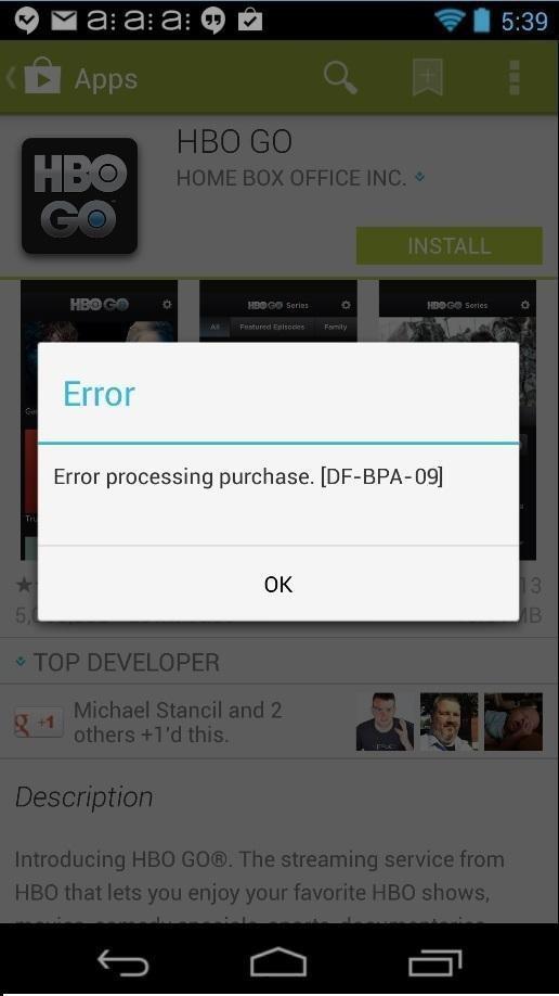 Google Play Store Error DF BPA 09 screenshot قائمه بجميع اخطاء جوجل بلاي و طرق حلها