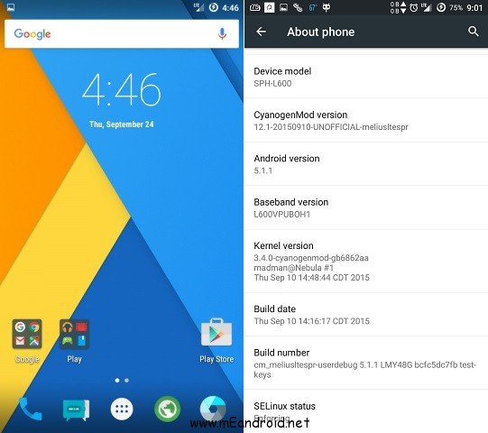 Install Android 5.1.1 Lollipop on Galaxy Mega 6.3 Sprint L600 screenshot 1 شرح تركيب ركفري وروم اندرويد 5.1 لهاتف Samsung Galaxy Mega 6.3 Sprint