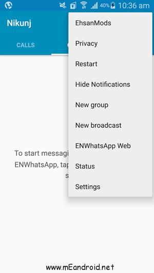 ENWhatsApp v3.1.5 1 تحميل برنامج ENWhatsApp v3.6.8 لتشغيل رقمين واتس اب