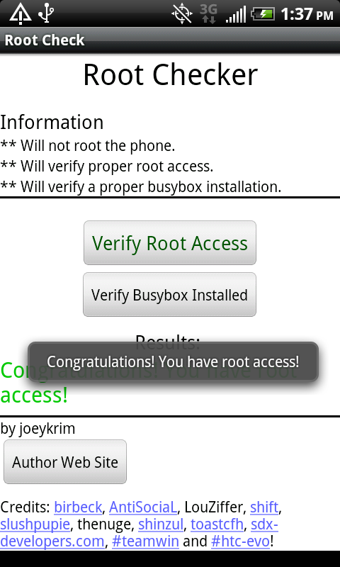 برنامج Root Checker للاندرويد