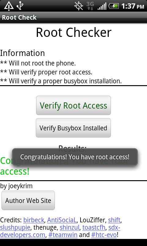 RootChecker Success برنامج Root Checker للاندرويد  الاصدار  5.6.1