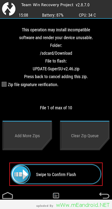 TWPR Swipe to Comfirm تركيب روت و ريكفري TWRP لهاتف Galaxy J7 Exynos