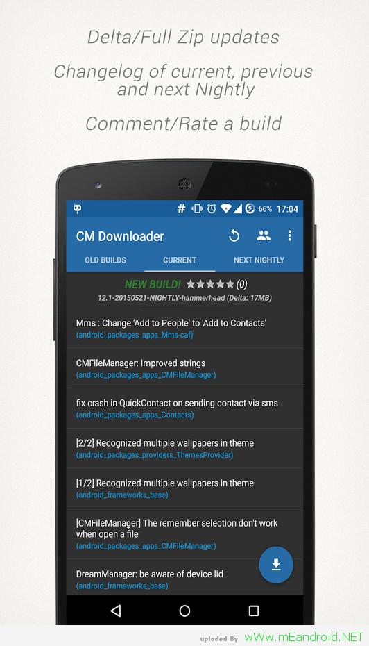 XNRmKQ برنامج CyanogenROM Downloader 2.3.2.6 لتحميل الرومات لهاتفك