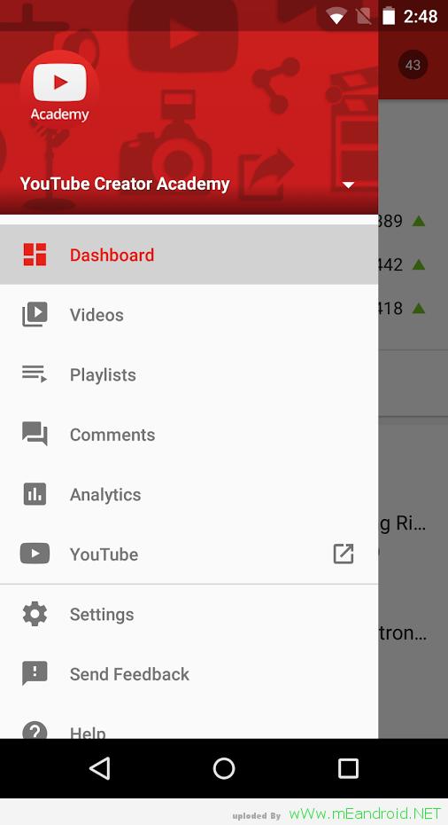 تحميل تطبيق يوتيوب مبدعي المحتوي YouTube Creator Studio 1.6.1