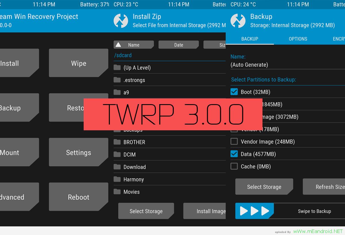 TWRP ريكفري معدل لهاتف HTC Desire S