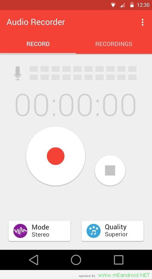 تحميل الصوت و المكالمات Audio Recorder 2.00.12 اخر اصدار