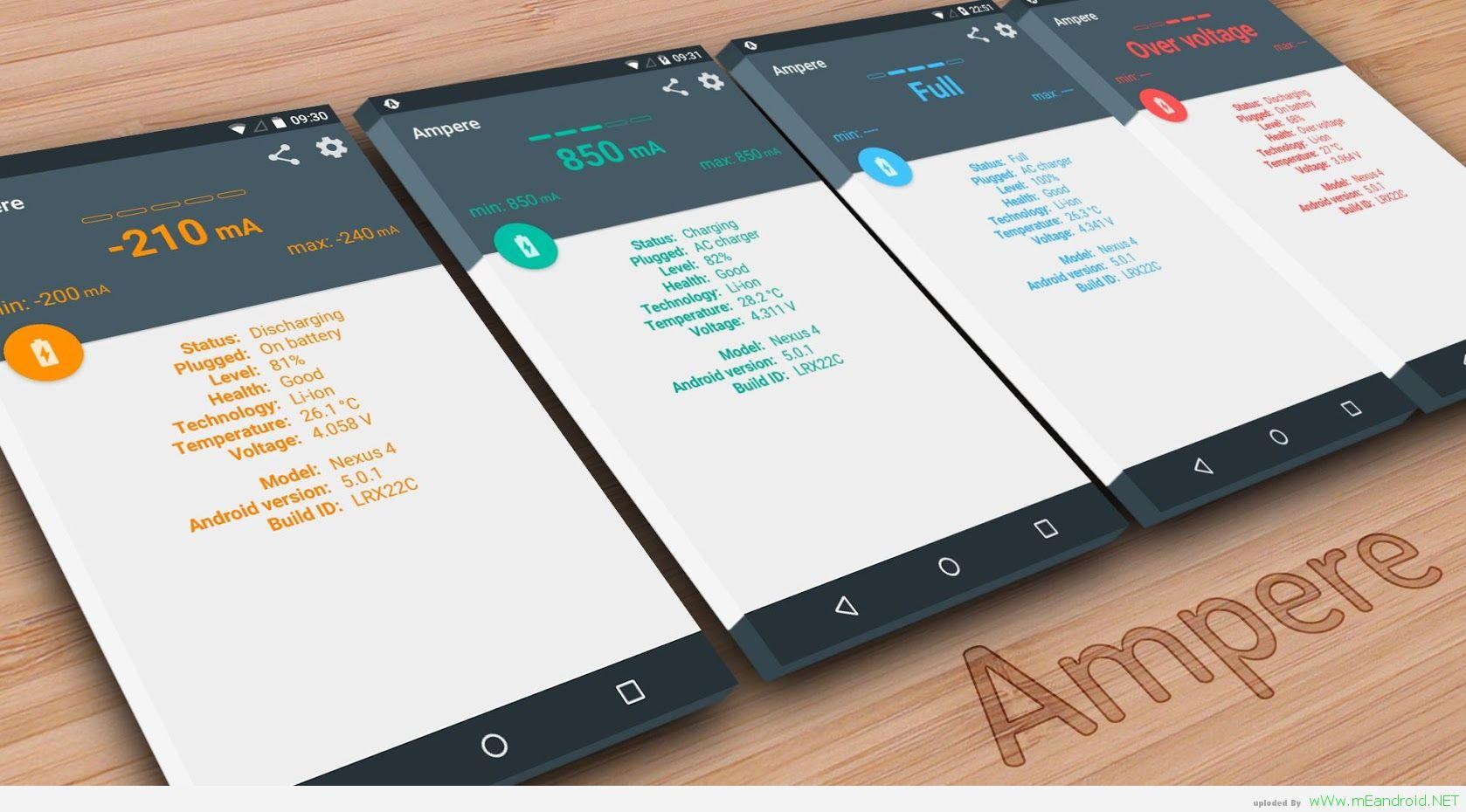 تحميل تطبيق امبير لقياس سرعه شحن هاتفك Ampere v1.58.6 Beta
