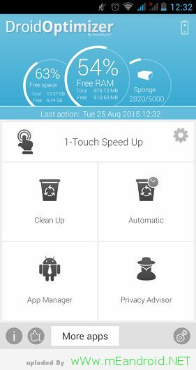pngOptions run the application تحميل تطبيق Ashampoo Droid Optimizer 1.1.2 لتحسين اداء هاتفك