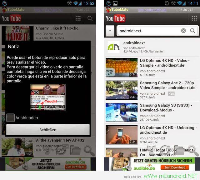tubemate start 1 شرح وتحميل برنامج TubeMate YouTube Downloader 2.2.8