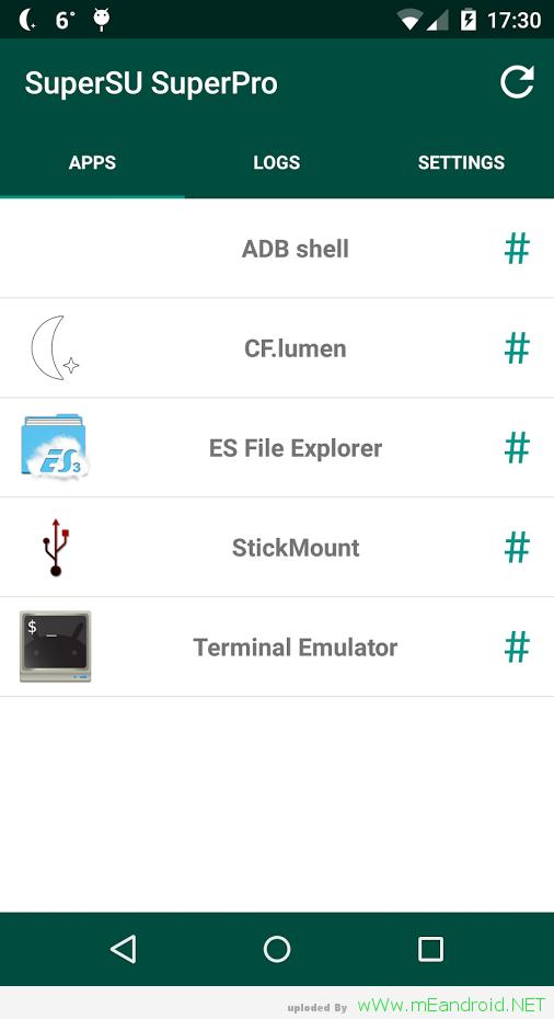تحميل عملاق التحكم في صلاحيات هاتفك SuperSU