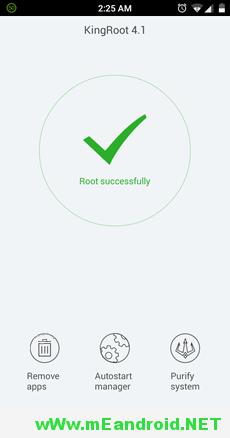 KingRoot Success شرح عمل روت لهاتف سوني إكسيبريا سي 4