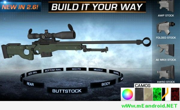 gun builder elite apk 600x337 تحميل لعبه Gun Builder ELITE Apk v3.1.5 كامله معدله
