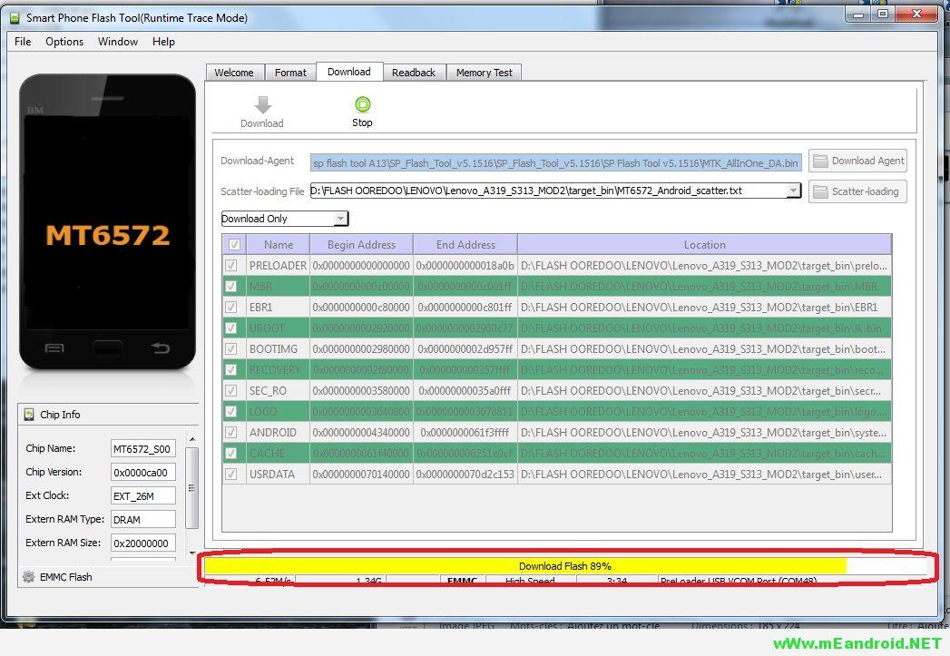 12 شرح تركيب وتفليش الرومات عن طريق برنامج SP Flash Tool