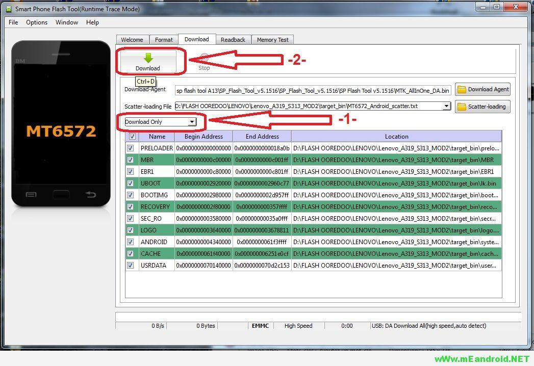 7 شرح تركيب وتفليش الرومات عن طريق برنامج SP Flash Tool