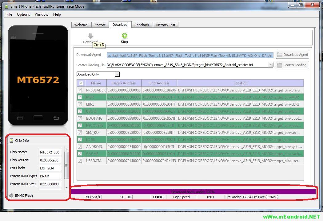9 شرح تركيب وتفليش الرومات عن طريق برنامج SP Flash Tool