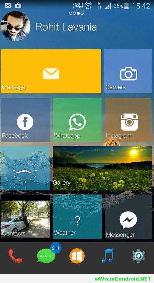 1111 تحميل لانشر ويندوز 10 لهواتف الاندرويد Win 10 Smart Launcher APK