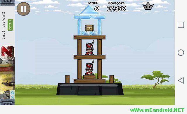 Siege Hero 1 1 افضل 10 العاب اندرويد ذات حجم صغير لا يتعدي 15 ميجا