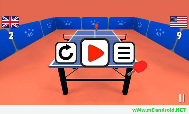 Table Tennis 3D افضل 10 العاب اندرويد ذات حجم صغير لا يتعدي 15 ميجا