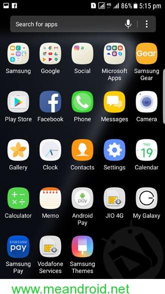 galaxy s7 edge nougat screenshot 2 تثبيت اندرويد نوجا 7.0 العربي الرسمي علي هاتف Galaxy S7 Edge