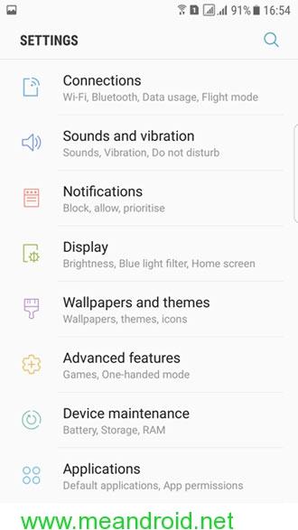 galaxy s7 edge nougat screenshot 7 تثبيت اندرويد نوجا 7.0 العربي الرسمي علي هاتف Galaxy S7 Edge