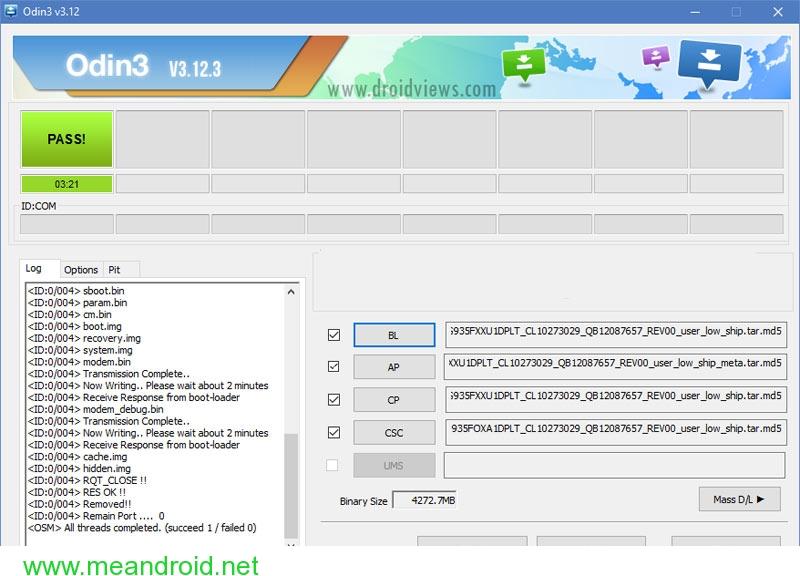 odin 12.3 android nougat firmware installation galaxy s7 تثبيت اندرويد نوجا 7.0 العربي الرسمي علي هاتف Galaxy S7 Edge