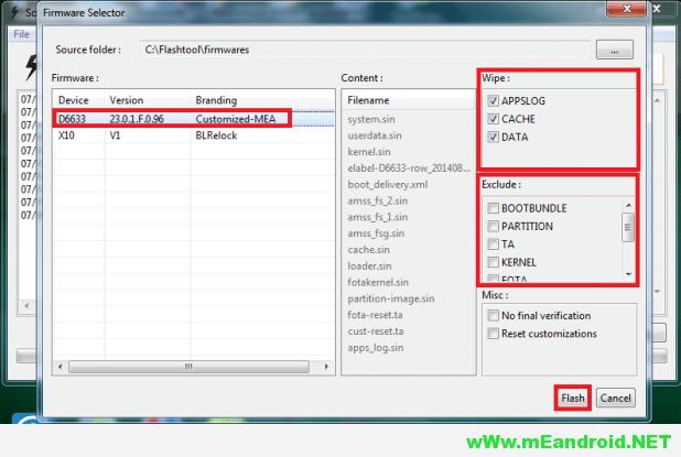 Flashtool17 شرح تفليش روم اندرويد 6.0 مارشيملو لهاتف Sony Xperia XA Ultra F3211