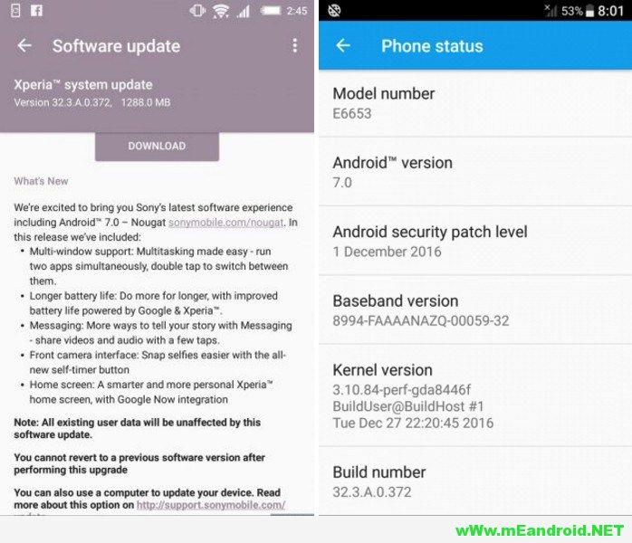 downlaod Android 7.0 Nougat for Xperia Z5 family 32.3.A.0.372 تحميل و تفليش روم اندرويد 7.0 نوجا لهاتف Sony Xperia Z5 جميع الاصدرات