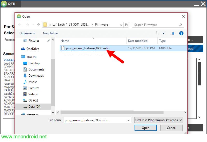 qfil locate شرح استخدام Qualcomm Flash Image Loader QFIL