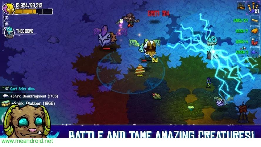 تحميل لعبة كراش لاند Crashlands للاندرويد نسخة مدفوعة اصدار 1.2.24