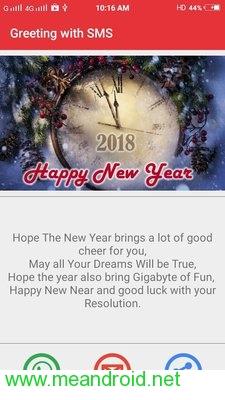 screen 2 52 تحميل تطبيق New Year SMS & Wishes 2018 V4.0.3 APK برابط مباشر