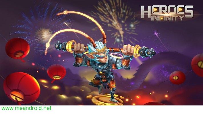 تحميل لعبه Heroes Infinity: Gods Future Fight V 1.15.3APK للاندرويد روابط مباشرة