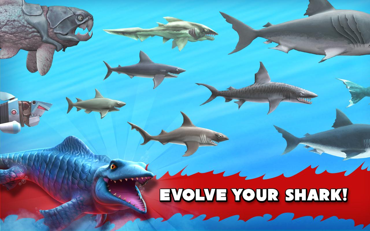 تحميل لعبه Hungry Shark Evolution Apk v4.1.0 معدله